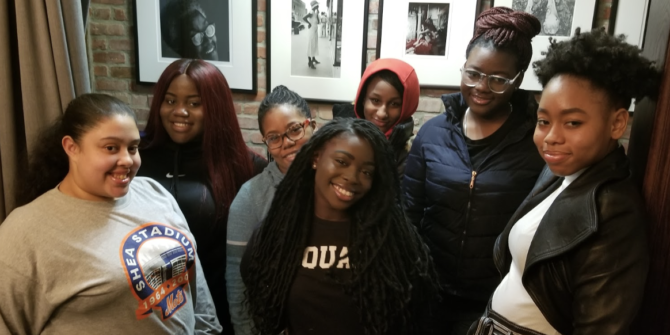 NYC YLB at their monthly meeting, hosted by Black Women's Blueprint at the museum of Women's Resistance