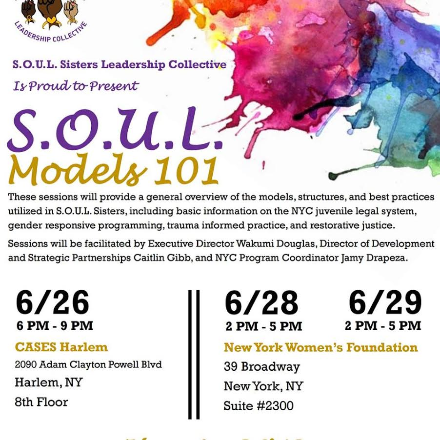 flyer for SOUL Models 101 training