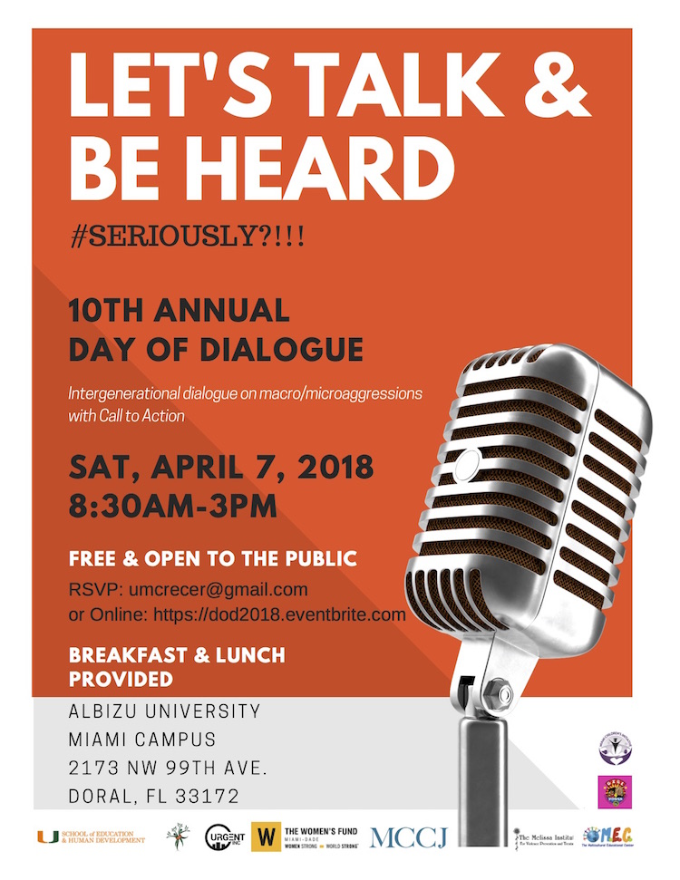 "Flyer for ""lets talk and be heard"""