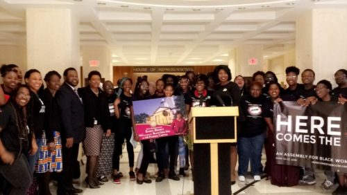 Group of women and femmes of color at the capitol in Florida